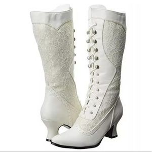 Ellie Rebecca Victorian Look Lace Boots Size 7